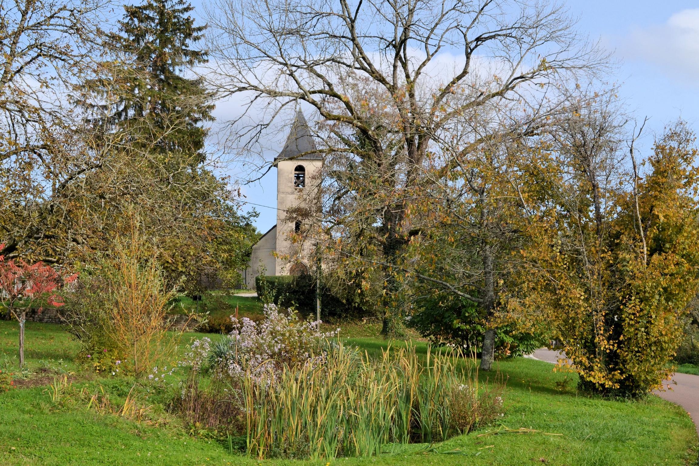 L'église de Courlans
